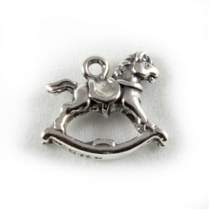 Charm School UK > Sterling Silver Charms > Babies > Rocking Horse